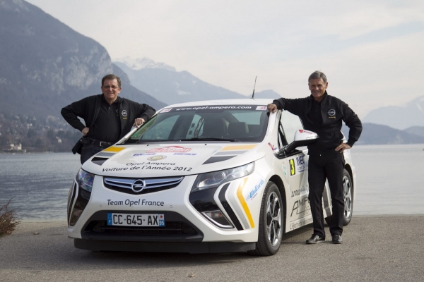 Opel Ampera chiến thắng tại Monte Carlo Rally 2012