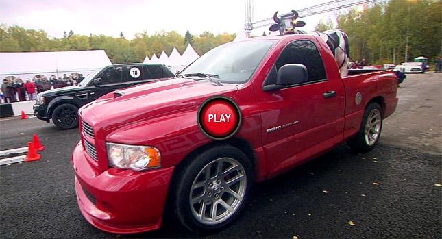 Video: Dodge Ram SRT-10 đua tốc độ cùng Range Rover Sport, ML63 AMG và X6M