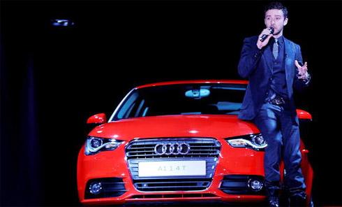 Timberlake khởi động chiến dịch quảng bá Audi A1