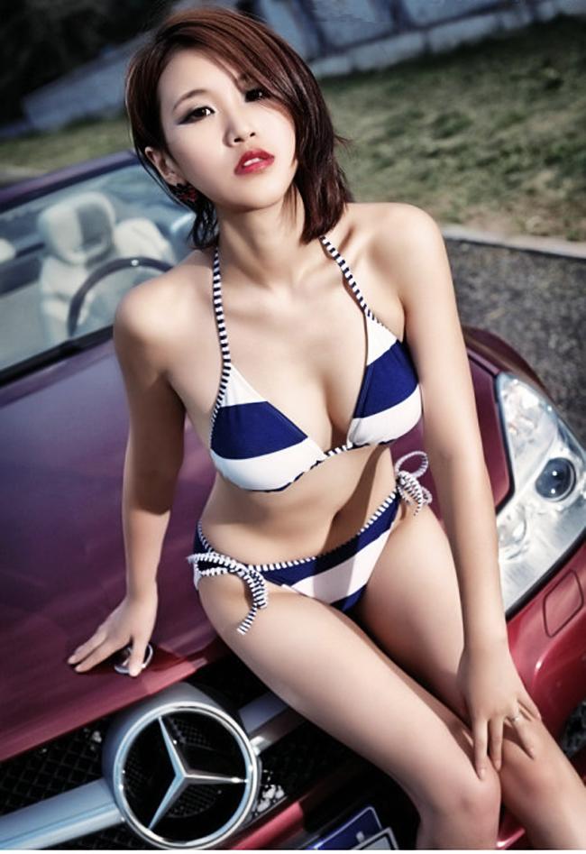 Girl Kute Show Cars Gai Xinh Kute New Car With The