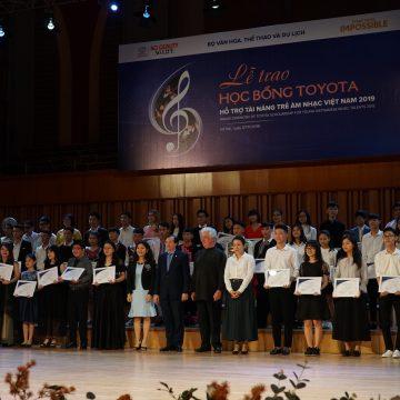 Chương trình Học Bổng Toyota hỗ trợ tài năng trẻ âm nhạc Việt Nam năm 2019.