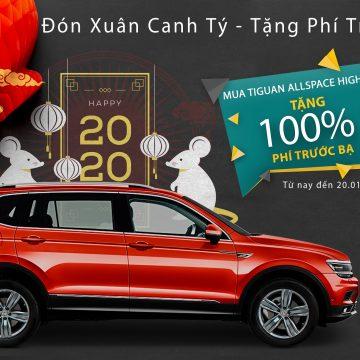 Hỗ trợ 100% phí trước bạ cho khách hàng mua xe Tiguan Allspace Highline nhân dịp năm mới 2020.