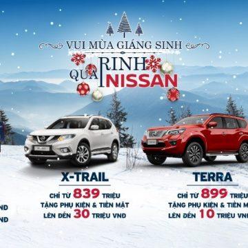 Nissan Việt Nam triển khai Chương trình ưu đãi cho khách hàng mua xe  trong tháng 12/2019.