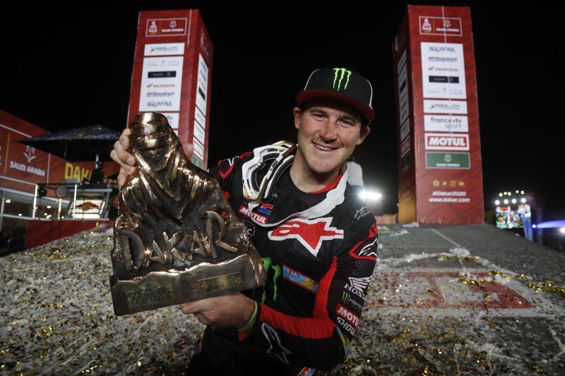Tay đua Ricky Brabec – đội Monster Energy giành chiến thắng Dakar 2020.