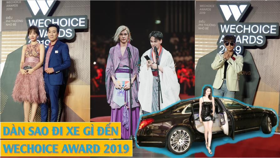 """""""Bố già"""", """"Chủ tịch"""" Thanh Tùng, """"Hoàng thượng"""" đi xe gì đến WeChoice Award 2019"""