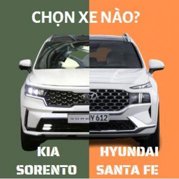 So sánh Hyundai Santa Fe với Kia Sorento