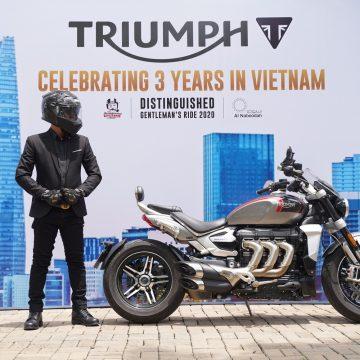 Kỷ niệm 03 năm Triumph Motorcycles có mặt tại Việt Nam