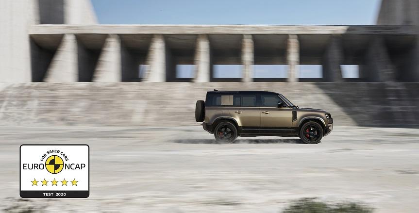 Land Rover Defender phiên bản 110 mới đạt giải thưởng 5 sao Euro NCAP