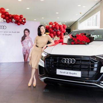 Ca sĩ Lệ Quyên trở thành một trong những khách hàng đầu tiên nhận xe Audi Q8