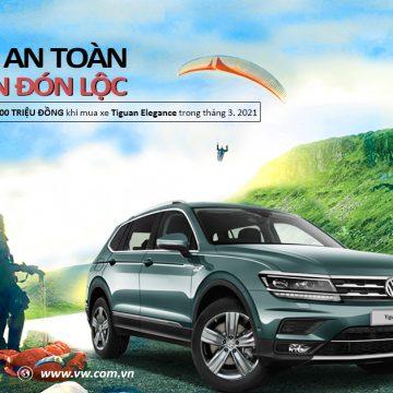 Tặng gói phụ kiện 100 triệu đồng  khi mua xe Volkswagen Tiguan Elegance