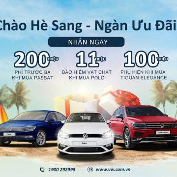 Volkswagen Việt Nam ưu đãi chào hè dành cho Tiguan Elegance, Passat và Polo