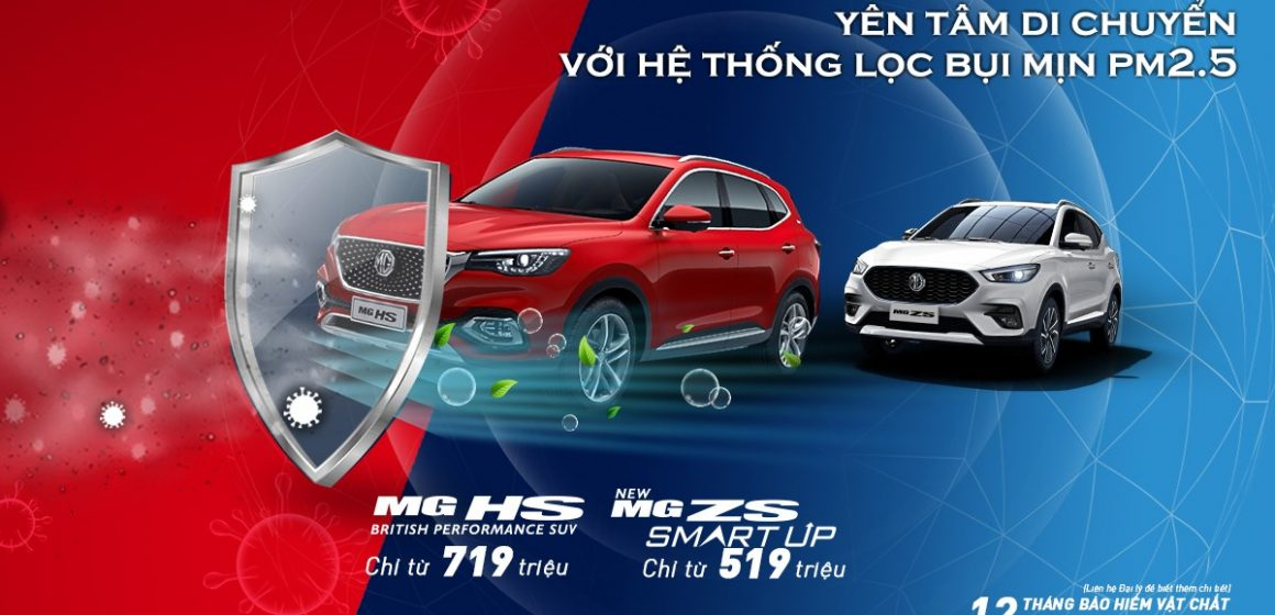 MG trang bị hệ thống lọc bụi mịn PM 2.5 trên hầu hết các dòng xe của hãng