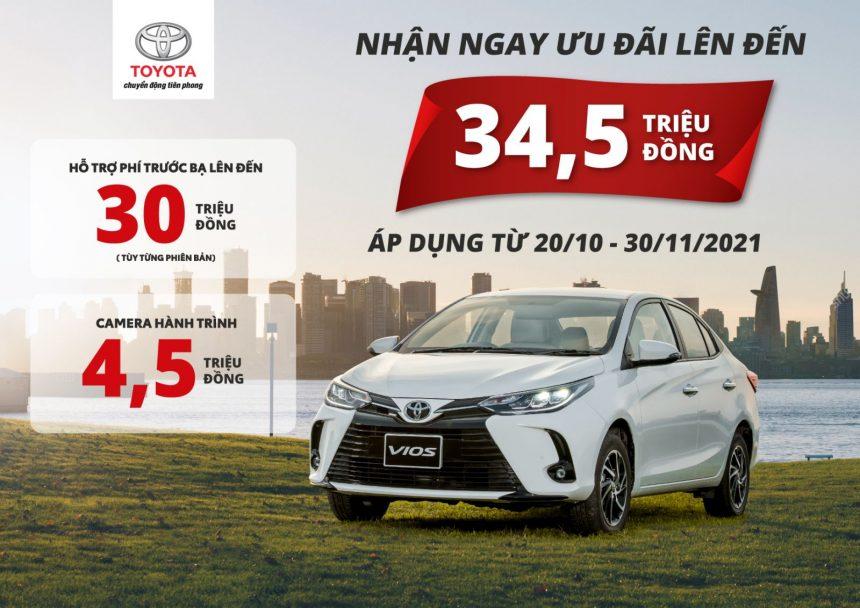 Triển khai chương trình ưu đãi dành cho Toyota Vios lên tới 34,5 triệu đồng